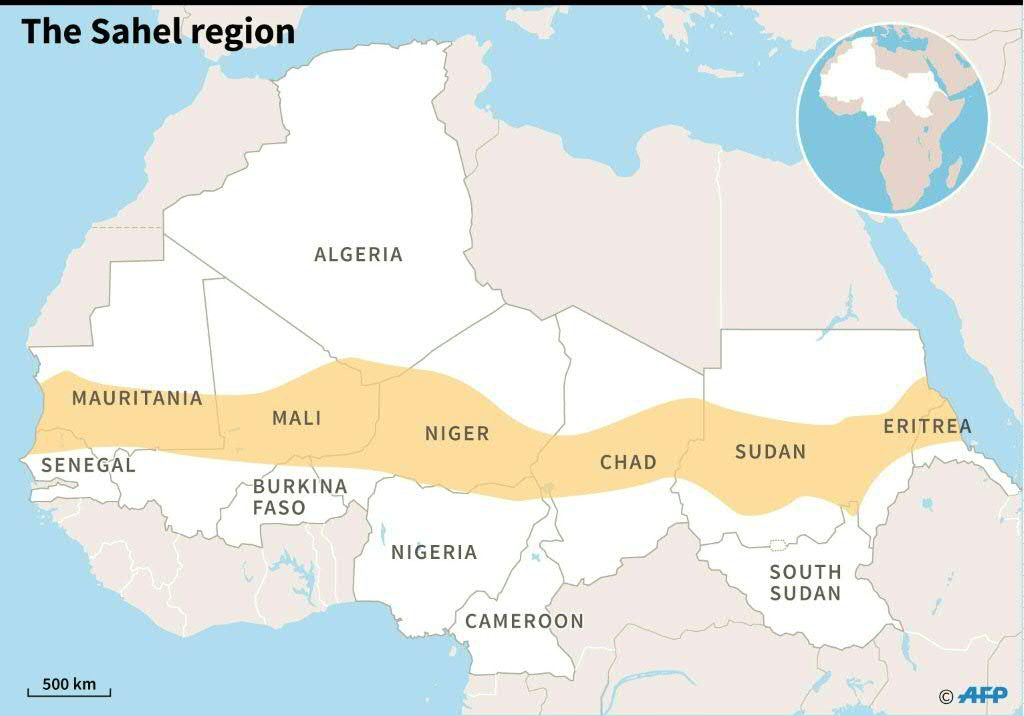 EU doubles Sahel force funding but African leaders issue ... on kalahari desert map, arabian desert map, strait of hormuz map, lake victoria map, libyan desert map, great victoria desert map, tibesti mountains map, ethiopian highlands map, red sea map, gobi desert map, atacama desert map, nubian desert map, zagros mountains map, african deserts map, great rift valley map, atlas mountains map, namib desert map, serengeti plain map, congo basin map, sahara desert map,